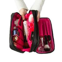 SafeBet pour les femmes sac cosmétique cosmétologue Organisateur Voyage Case cosmétiques bain Accessoires brosse professionnelle de stockage