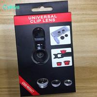 3 В 1 универсальный металлический зажим телефон объектив камеры Рыбий глаз + Макро + Широкий угол для Samsung Galaxy S8 с розничным пакетом