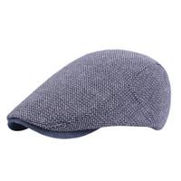 Bere Erkekler 'S Bahar Ve Yaz Vahşi Rahat Orta Yaşlı Mart Şapka Katı Renkli Seyahat Şapka Caps