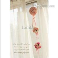 2015 nowy. Jedwab / symulacja / sztuczny kwiat róży romantyczny, różowy ślub / bukiet ślubny (WD13005)