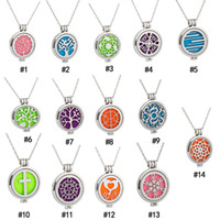 Stainless steel Essential Oil Diffuser Necklaces Glow in the...