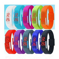 LED Digital Touch Screen Watch Jelly Candy Color Sports Watc...