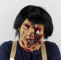 Horror brunette zombie Halloween room escape haunted house w...