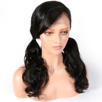 8A Glueless Full Lace Human Hair Wigs Body Wave 150% Density...