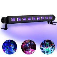 Barra delle luci a LED UV con luce nera 9Dex3W, partito di clow al neon Parti arazzo fluorescente poster di tappezzeria leggera per la vernice DJ Stage