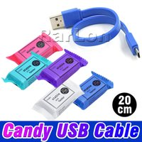 Colorful Candy USB Cable 2A Fast Charger 20cm short Charging...