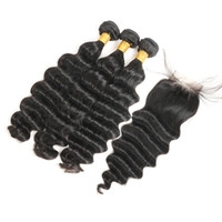 Hair Bundles with Closure Loose Deep Wave with Closure Brazi...