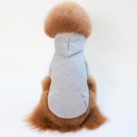 Casual Pet Sweat-shirt Hoodie Chien manteau Vêtements pour petits vêtements pour animaux de compagnie Chiot Products pour l'automne hiver Fre