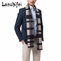 2017 New Fashion Men Plaid Scarf Cashmere Scarves Male Basic...