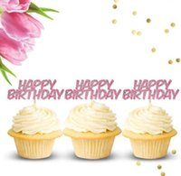 custom color glitter Happy Birthday birthday cupcake toppers...