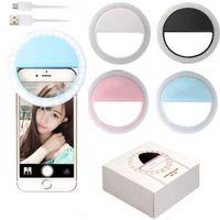 Iphone x için şarj edilebilir evrensel lüks akıllı telefon led flaş işık up selfie iphone telefon ile iphone için aydınlık telefon halka şarj