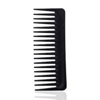 Dents coiffure peigne 19 dents noir de haute qualité ABS résistant à la chaleur résistant à la chaleur large de la chaleur large se défaillante large