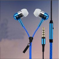 Zipper Earphone In- Ear Microphone Headset Subwoofer Universa...