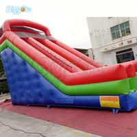 Outdoor Summer Party Grande Salto Trampolino Scivolo acquatico gonfiabile doppio scivolo Big Pool per molte persone