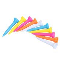 100pcs / set 42mm multi couleur en plastique tees de golf en caoutchouc coussin top golf tee accessoires de golf