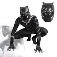 2018 New Movie Black Panther Cosplay Onesie Halloween Costum...