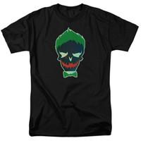55a2edd49d49e DC Comics Suicide Squad Movie La maglietta Joker Skull Green Hair Small to  5XL Mens 2018 fashion Brand T Shirt O-Collo 100% cotone