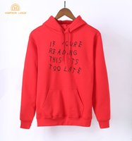 If Youre Reading This It's Too Late Adult Funny Women Hoodie...