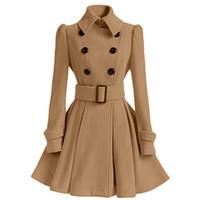 2018 Otoño Nueva Marca Mujeres Trench Coat largo Windbreaker Europa América Trend Trend Doble Botín Slim Trench Largo MKI789
