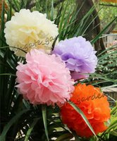 Hochzeit Dekorationen Papierblumen Tissue Pompoms Künstliche Blumen für Geburtstags-Party-Garten-Raum Weihnachtsschmuck Pom Pom Balls