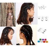 5/6/7 / 10pcs Mixed Silver Braid Dreadlock Beads Gold Tone Hair Cuffs Dread Tube Charm Dreadlock Accesorios # 280550