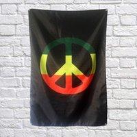 Bob Marley Drapeau Bannière Polyester 144 * 96cm A accrocher au mur 4 oeillets Drapeau personnalisé Intérieur