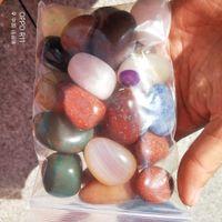 500 g Assorted Trommelstein-Achat-Aventurin-Obsidian-Jade-Jaspis Heilung Reiki Chakra Po Reiki und Energie Kristall Heilung