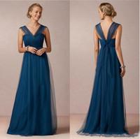 Robe de demoiselle d'honneur à demoiselle d'honneur à lapis bleu Vol en V pour demoiselle d'honneur robe convertible robe de demoiselle d'honneur formelle
