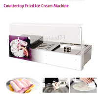 Marka Yeni Tezgah Üstü Paslanmaz Çelik Kızarmış Dondurma Rulo Makinesi ile Buz Yoğurt Meyve Suyu Rulo Makinesi Kare Tava 6 Tencere 220 V