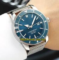 Luxry Super Ocean Heritage 42 A1732124 | BA61 | 154A Dial azul Japón Miyota Reloj automático para hombre Bisel de cerámica Acero inoxidable Relojes 01