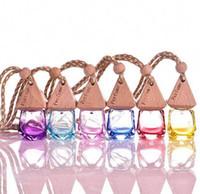 6ml Karışık renkli Araç asmak dekorasyon cam özü yağı Parfüm şişesi asın ip boş şişe ücretsiz gönderim