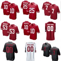San Francisco 49ers 25 Richard Sherman 10 Jimmy Garoppolo Jersey 56 Reuben  Foster 16 Joe Montana Rice Sanders McGlinchey 7 Colin Kaepernick fc3de23a8