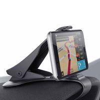 6,5-Zoll-Armaturenbrett Autotelefonhalterung Einfache Clip-Montage Ständer Autotelefonhalter GPS-Display Halterung Classic Black Autohalterung Unterstützung