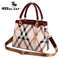 Fashion plaid Women large Bags Ladies Leather Handbag High Q...