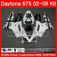 Kit Pour Triumph Daytona 675 2002 2003 2004 2005 2006 2007 2008 Corps en vente blanc 04HM82 Daytona675 Daytona 675 02 03 04 05 06 07 08 Carénage