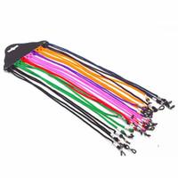 12 piece for dúzia anti-slip mmuti-cor crianças óculos corda óculos de leitura pescoço cordão de retenção cinta com bom laço de silicone freeshipping