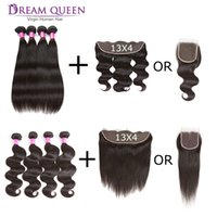 Unprocessed Peruvian Virgin Human Hair Body Wave Straight 4 ...