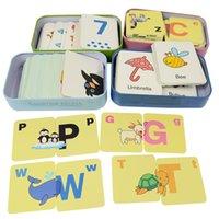 32 шт. / коробка детские игрушки интеллект головоломки Монтессори когнитивные карты детские развивающие игрушки головоломки для детей подарок ребенку