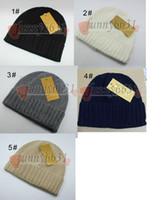 Chapeaux d'hiver d'automne pour les femmes Hommes Marque de style Mode Beanies Skullies Chapeu Caps Coton Gorros Touca De Inverno Macka chapeau freeship