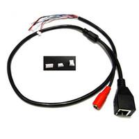 2pc DC + RJ45 CCTV Network IP Camera Module Cavo di alimentazione video con terminali per un'altra estremità in connessione al modulo telecamera