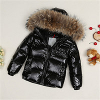 Children Winter White Duck Down Jacket Boys Girls Natural Fu...