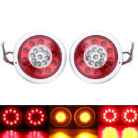 2 Pcs 19 LEDs Car LED Rear Tail Lights Stop Brake Light for ...