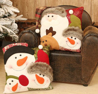Christmas Cushion Cover Pillow Case Christmas Decorations Fo...