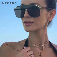 WFEANG Fashion Sunglasses Women Square Style Personality Ori...