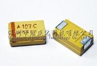 100 sztuk Chip Tantal kondensator C Rozmiar 6032 SMD 16V 100UF 107C