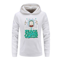 Rick Morty Anime Men Hoodie 2018 New Male Slim Casual Hoody Rick And Morty Print Sudaderas con capucha para hombres Sudaderas 100% Algodón