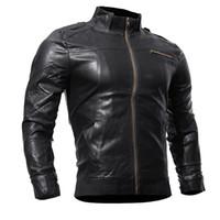 الرجال بو جاكيتات معاطف دراجة نارية سترة جلدية الرجال الخريف الربيع الجلود الملابس الذكور عارضة معاطف الملابس زائد الحجم xxxl
