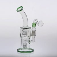 green bongs 24cm Double Birdcage Percolators Oil Rigs Bongs ...