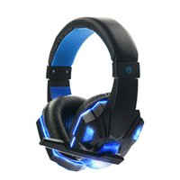 SY830MV Deep Bass Gioco Cuffie Stereo Over-Ear Gaming Headset Fascia auricolare con luce a LED per PC Gamer PC