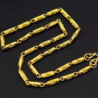 n298-50cm Length18K Gold füllte kühlen Curb Cuban Link Kette Männer Halskette 4.5mm